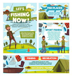 fishing tours fisher catch tourism leisure vector image