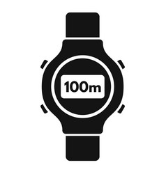 fitness tracker icon simple style vector image