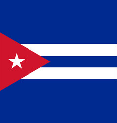 flag of cuba in national colors with a triangle vector image