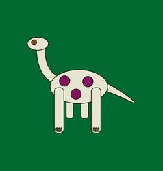 Flat icon design collection giraffe toy vector
