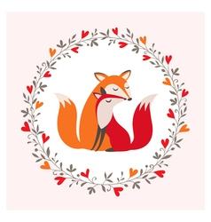 fox couple vector image