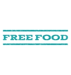 Free Food Watermark Stamp vector image