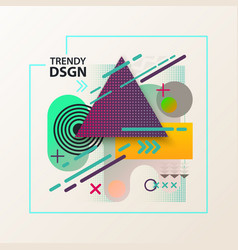 Geometric modern and abstract cover design vector