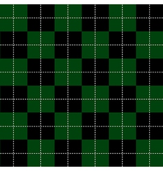 Green Black Chess Board Background vector
