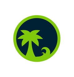 green island logo icon concept vector image