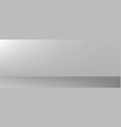 Grey or white wall and floor gradient background vector