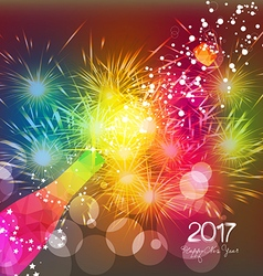 Happy new year 2017 greeting card or poster design vector