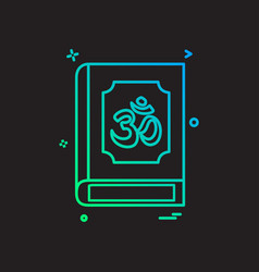 Hindu holy book icon design vector