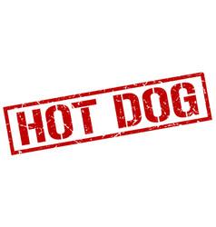 Hot dog stamp vector