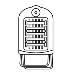 Hot small con icon outline style vector