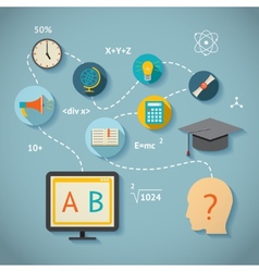 Internet education infographics vector