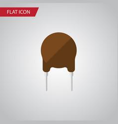Isolated fiildistor flat icon triode vector