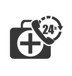 Kit medical box vector