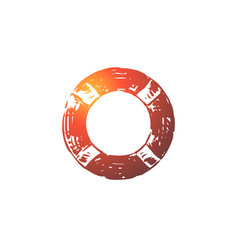 lifebuoy emergency help lifesaver rescue vector image