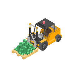 loader with pile cash vector image