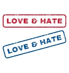 Love Hate Rubber Stamps vector