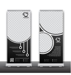 Market shop roll up banner design vector
