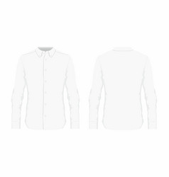 mens white dress shirt vector image