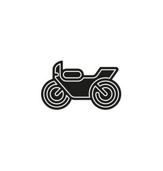 motorcycle - motorbike symbol race bike vector image