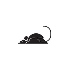 mouse black concept icon mouse flat vector image