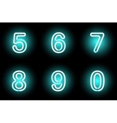 Neon digits vector image