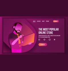 online sale shopping landing page concept vector image