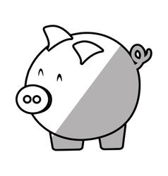 piggy save money bank shadow vector image