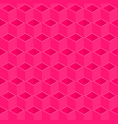 Pink cubes pattern seamless background vector
