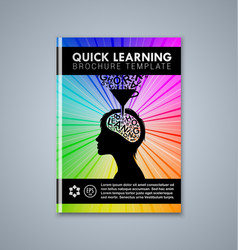 quick learning brochure or book cover template on vector image