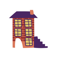 residential house building design element of vector image