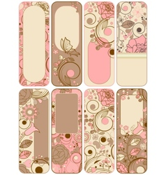 Retro floral banners vector