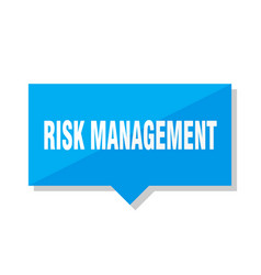 Risk management price tag vector