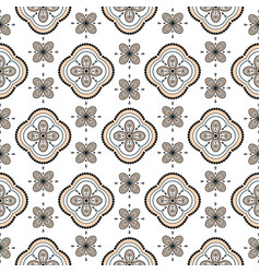Seamless geometric rosette pattern vector