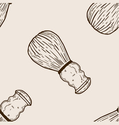 shaving brush seamless pattern engraving vector image