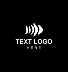 skeleton-fish-elegant-logo vector image