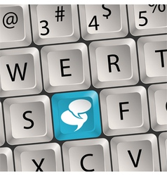 social media keyboard vector image vector image
