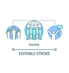 Society concept icon social integration vector