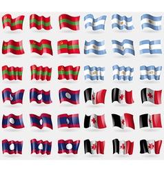 Transnistria Argentina Laos Udmurtia Set of 36 vector