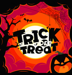 trick or treat halloween vector image