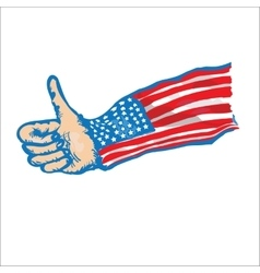 US Flag Thumbs Up vector image