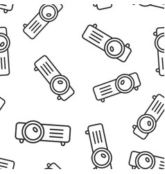 video projector sign icon seamless pattern vector image