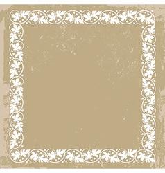 vintage floral plant frame vector image