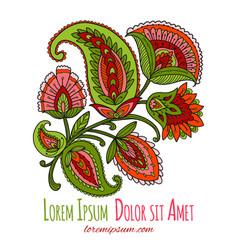 vintage magic flowers sketch for your design vector image