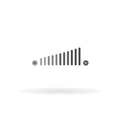 volume adjustment icon for web business vector image