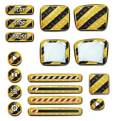 Warning icons and elements for ui game vector