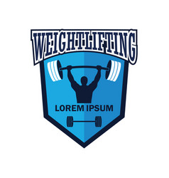 weight lifting logo with text space vector image