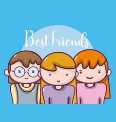Womens best friends vector