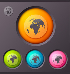 worldwide sign buttons background vector image