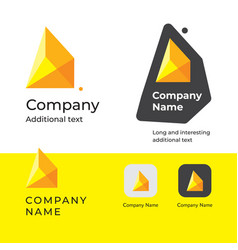 isometric abstract modern logo design and vector image