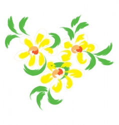 still life with yellow flowers vector image vector image
